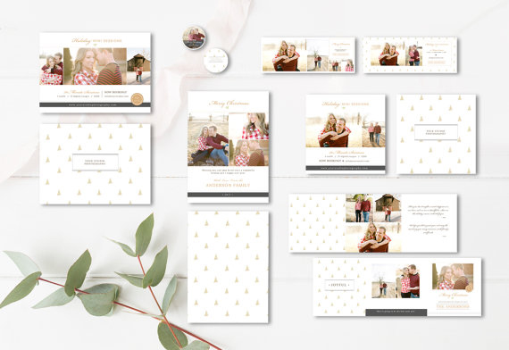 Holiday / Christmas PSD photo card templates