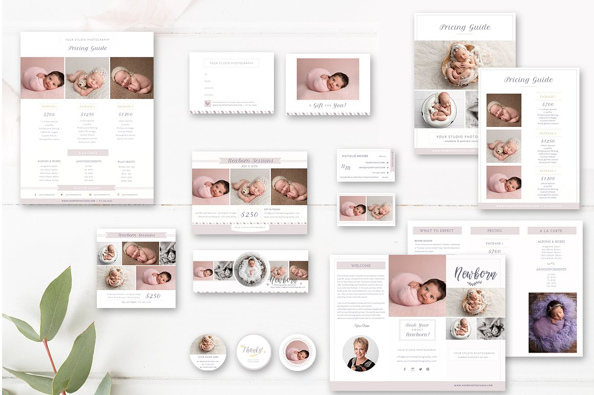photographer marketing set - photographer templates  - by stephanie design