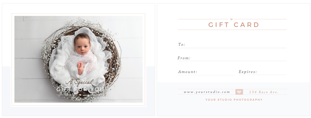photographer gift card template - by stephanie design