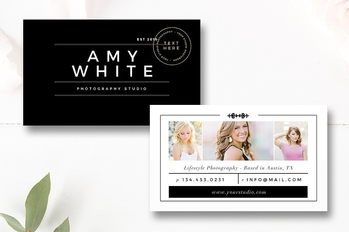 Marketing Set and Photographer Magazine Template