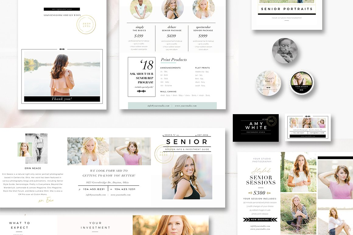 Marketing Templates, Branding Kit, Marketing Set and Photographer Magazine Template