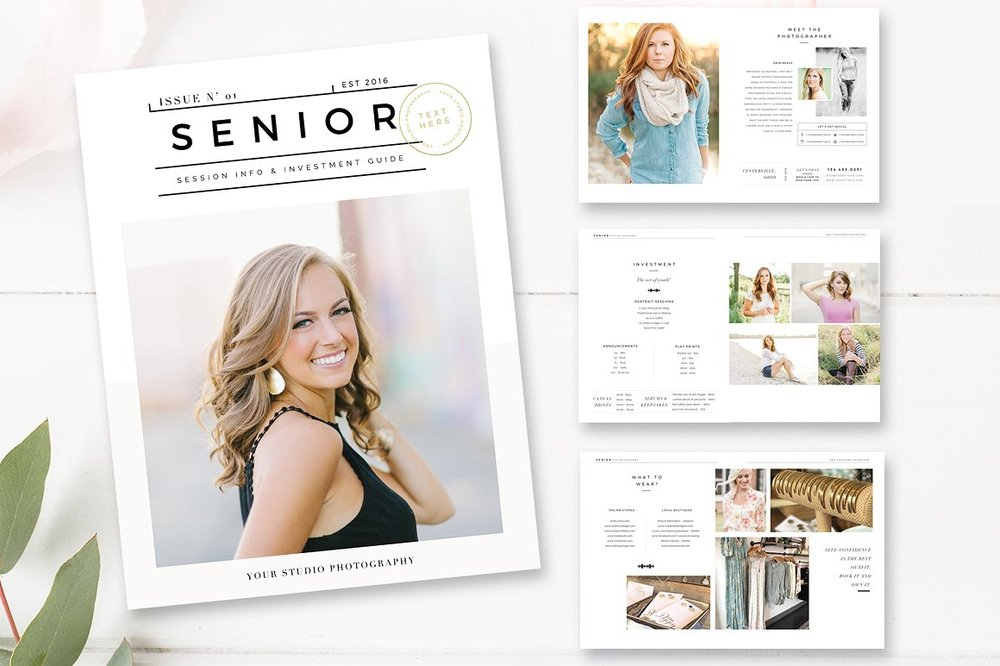 senior photographer magazine template - by stephanie design