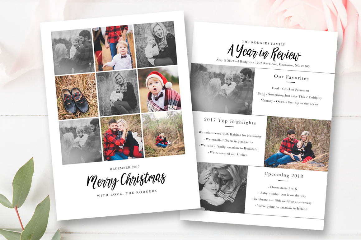 christmas year in review template