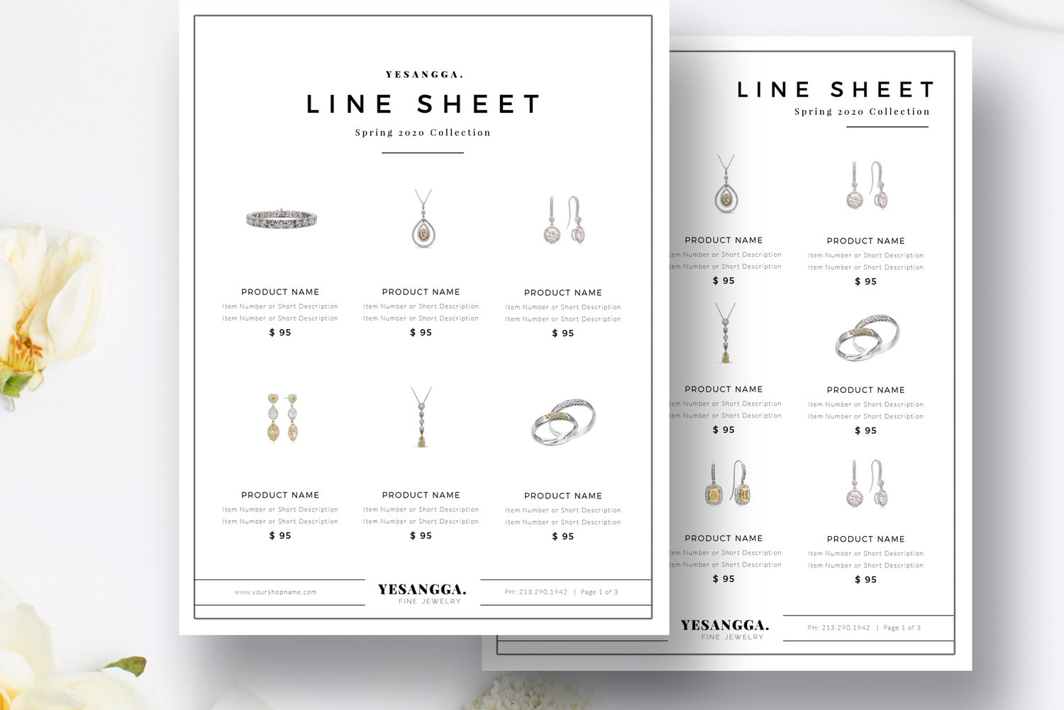 Minimalist Product Line Sheet Templates 4 Layouts Product Sales Sheet Photoshop Indesign Ms Word By Stephanie Design