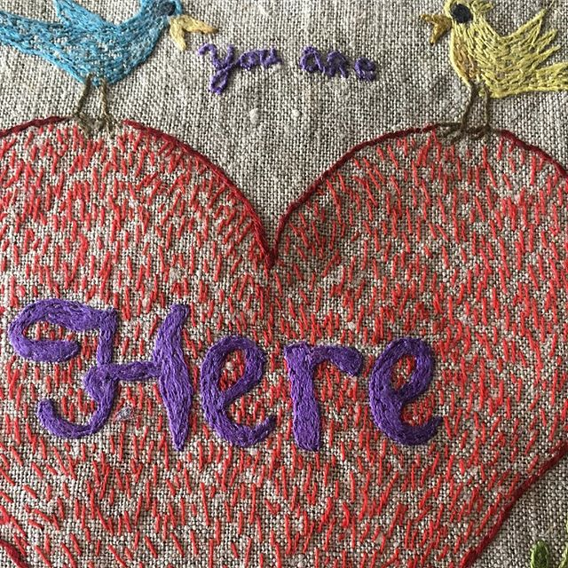 Detail, been itching to start some new embroidery projects and trying to motivate myself by looking at previous projects . . . #annelarsson #embroideryart #needleandthread #linen #heart #stichesintime #fromthearchives #birdsagain #here