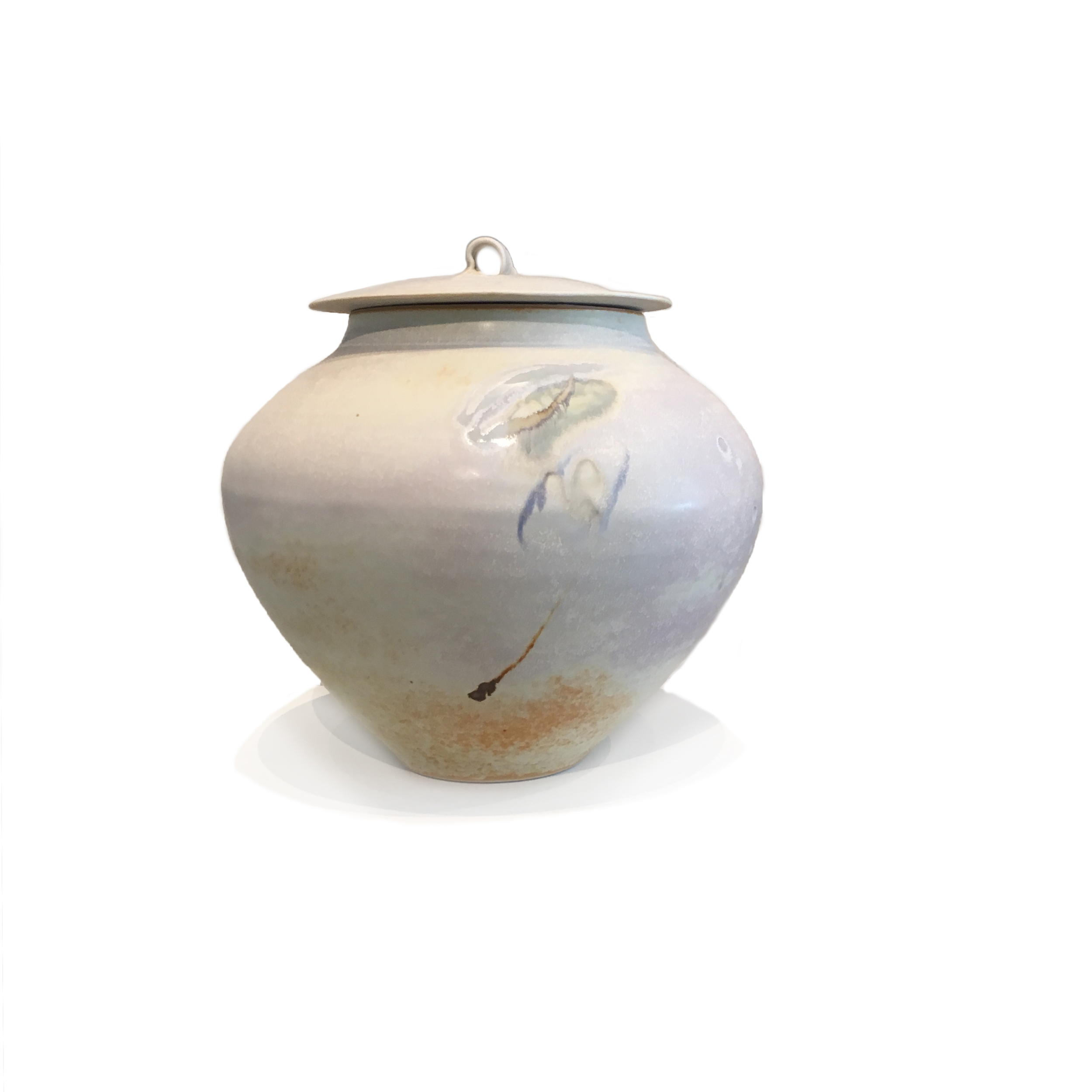 SOLD II Large Lidded Oatmeal Vessel by Kayo O'Young