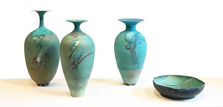 SOLD II Turquoise porcelain by Kayo O'Young
