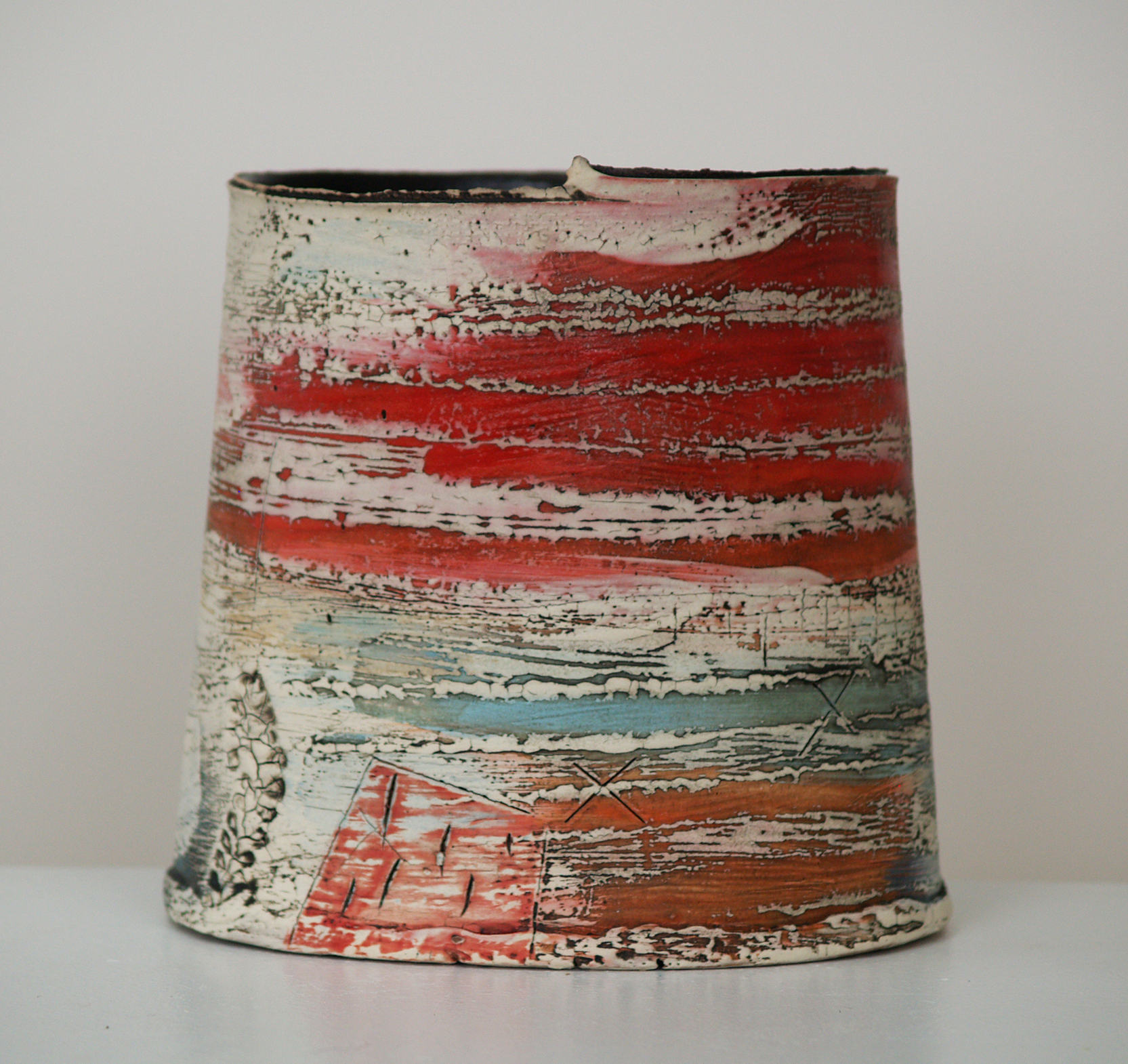 SOLD II My Red Landscape by Lesley McInally