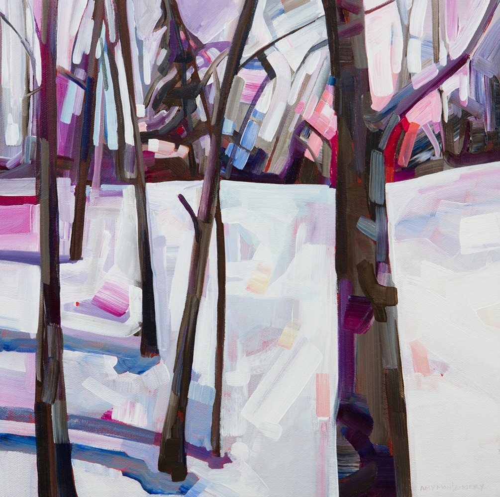 SOLD ||  Magenta Snow 1 by Amy Montgomery