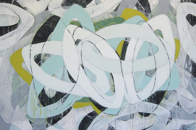 Jumble-Blue and Grey by Laurie Skantzos