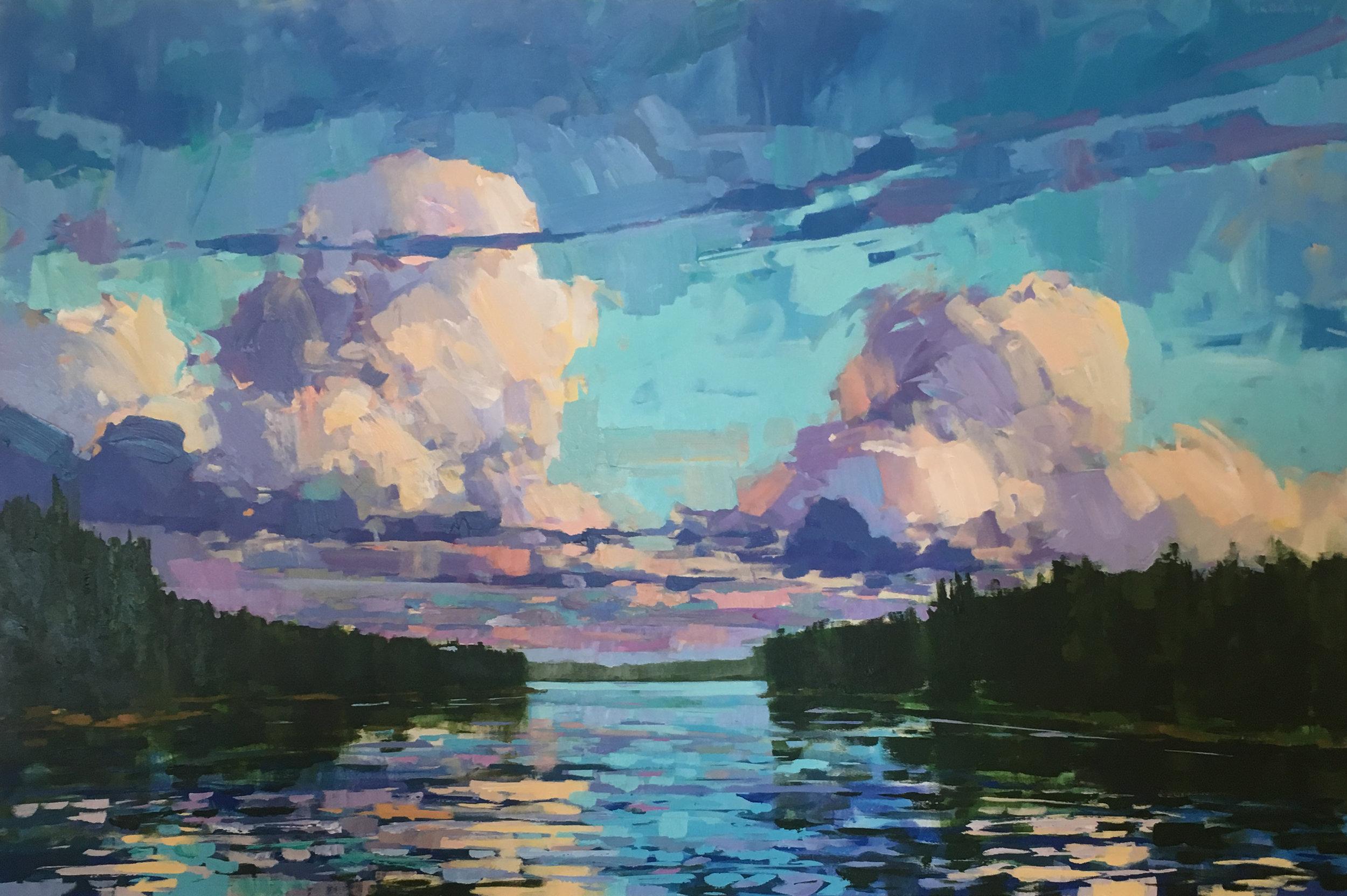 SOLD II Clouds over Lake Cecebe by Jamie Jardine