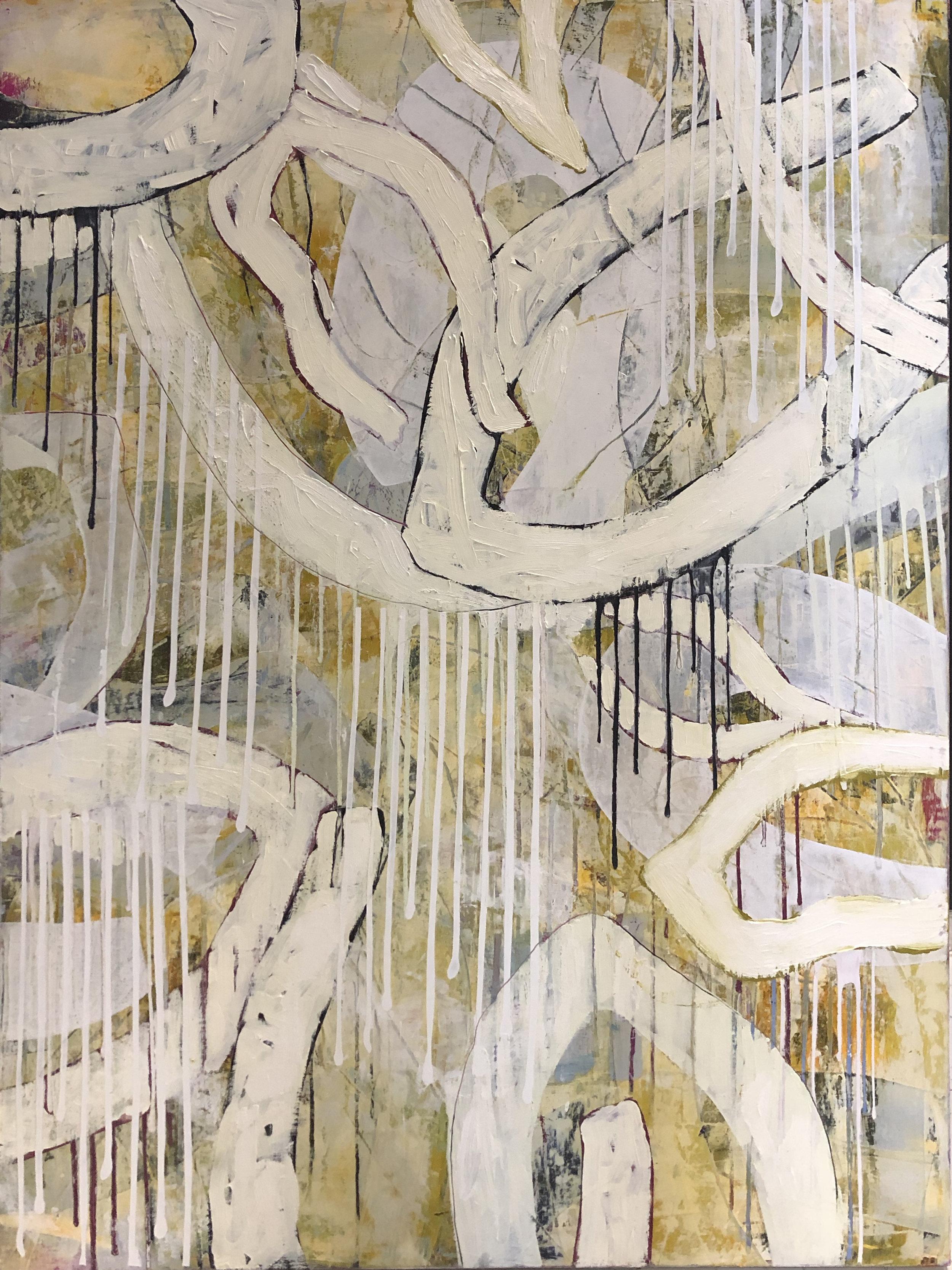 Saffron Rain II by Laurie Skantzos