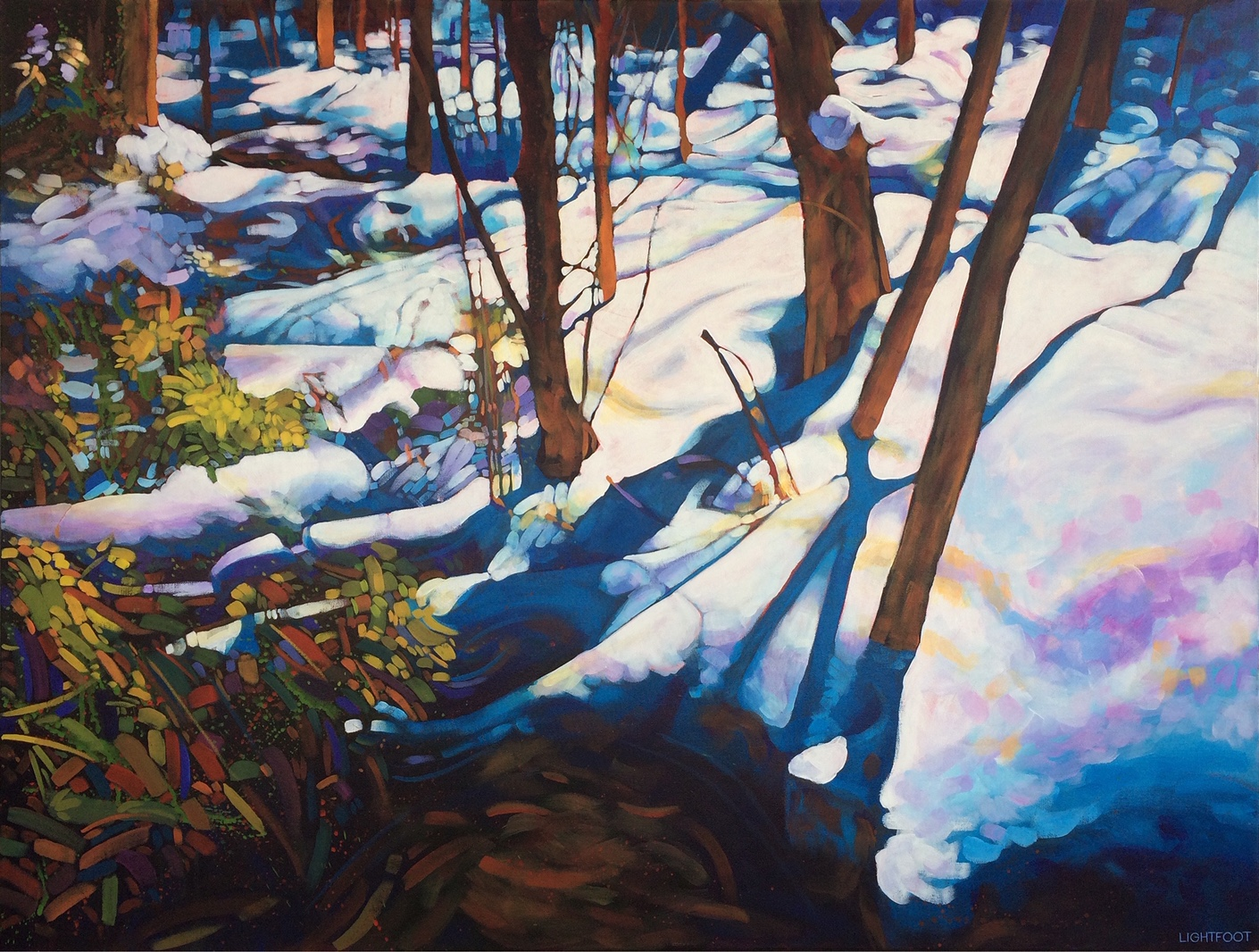 SOLD ||  Forest Snow by John Lightfoot
