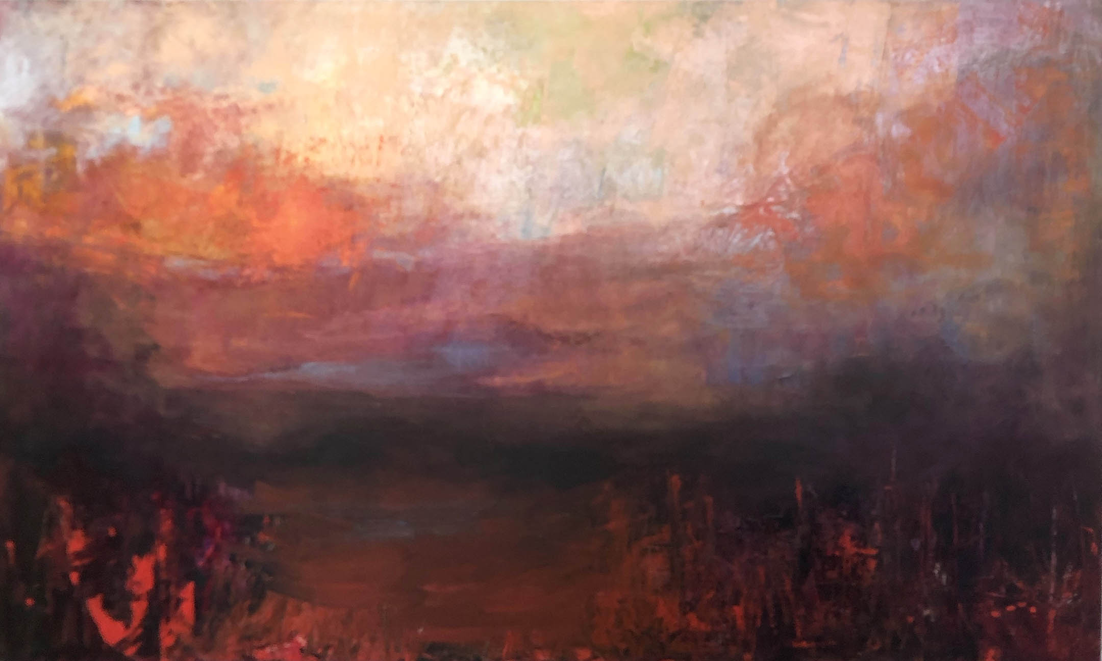 SOLD || Red Landscape by Carol Finkbeiner Thomas