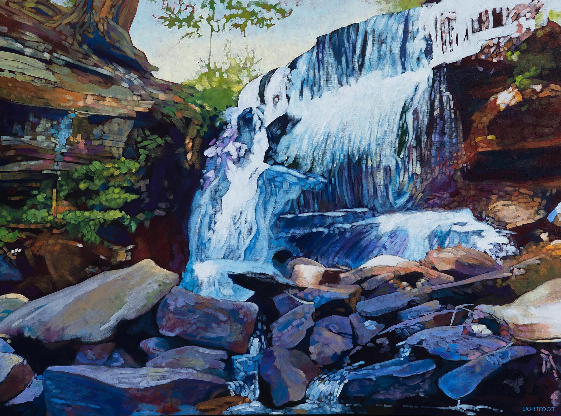 SOLD || Waterfall by John Lightfoot