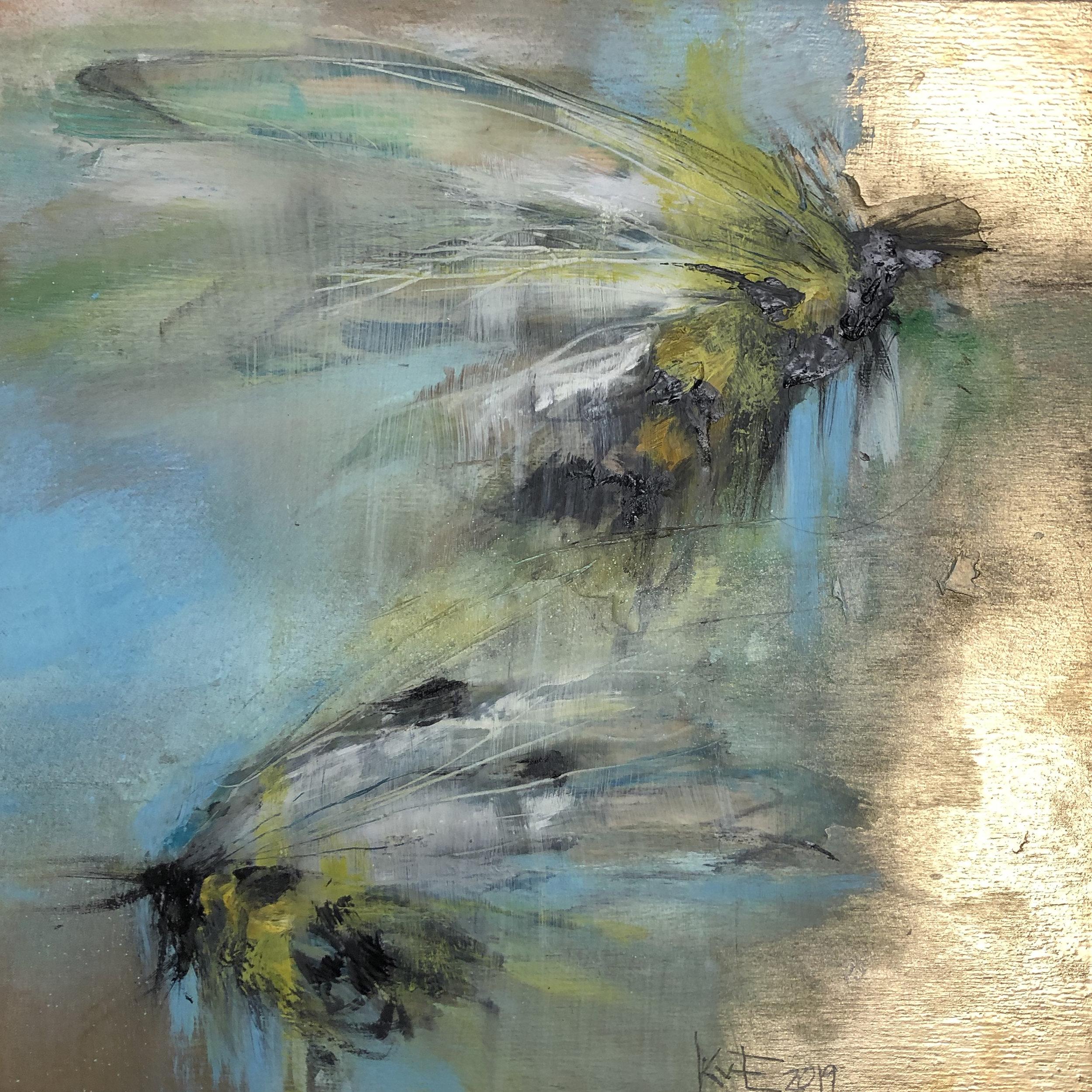 Brushing with Gold by Annette Kraft van Ermel