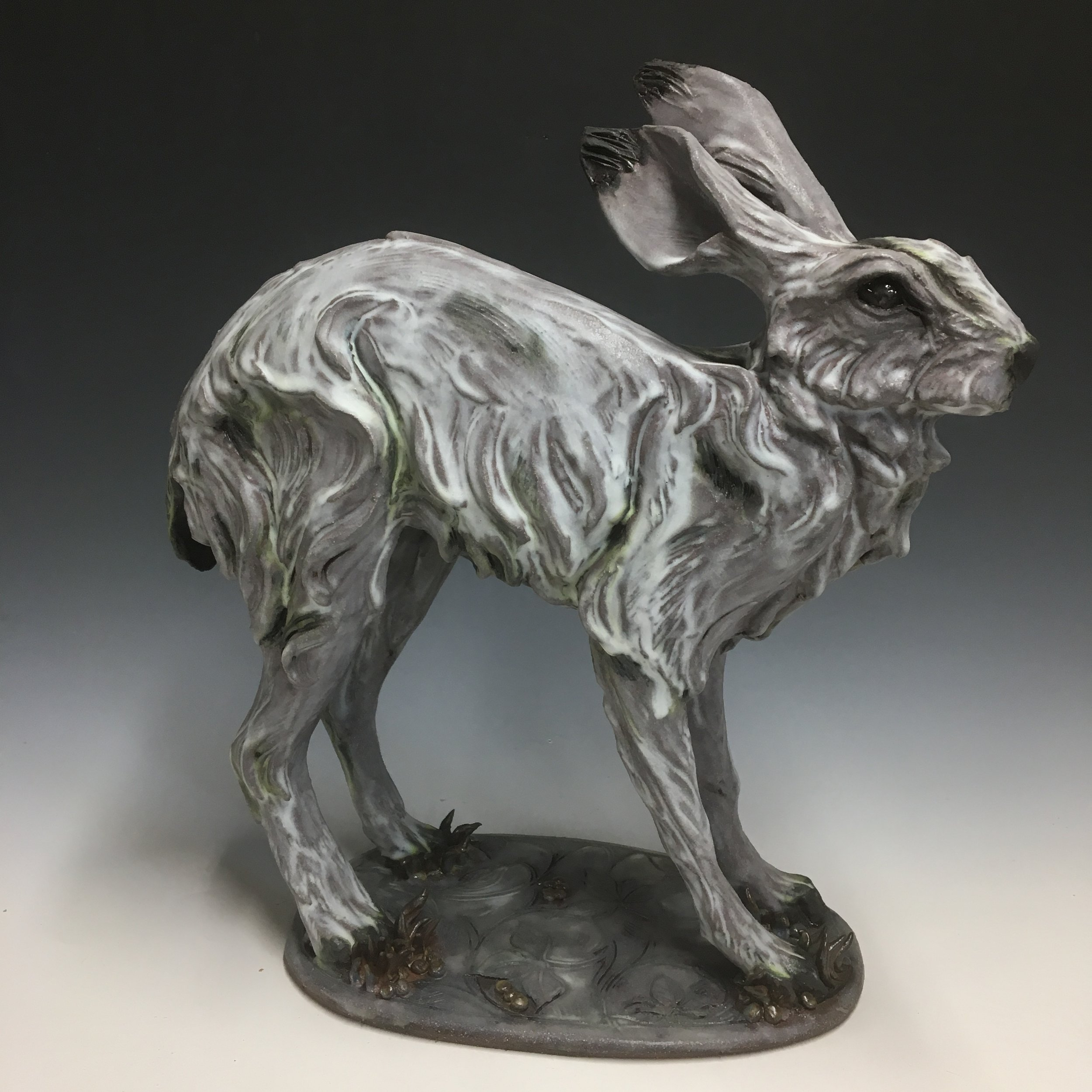 Cat Stretch Hare by Mary Philpott
