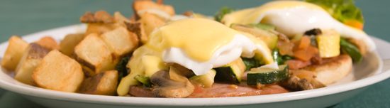 Eggs Benedict served on Sundays only