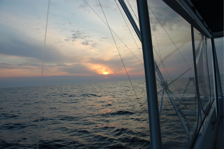 Sunrise on the High Return Sportfishing Boat