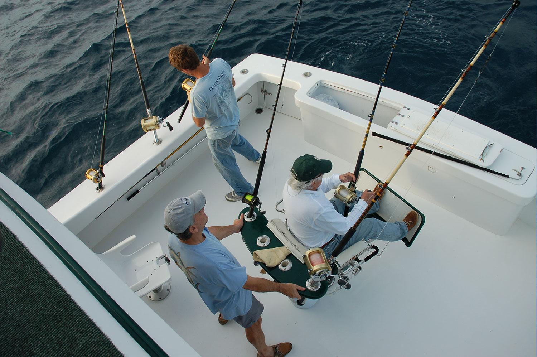 Setting Up on the High REturn Sportfishing Boat