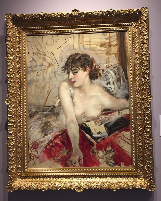 "It's the best part of the day, where everything is possible and night and day collapse together forging new and revamped intentions while I go officially hunting for the best croissants in town. ""The morning letter"" by #giovanniboldini #myabsolutefavorite #irecognizehispaintingsfrommilesaway #femininitysublimation #startingyetalloveragain"