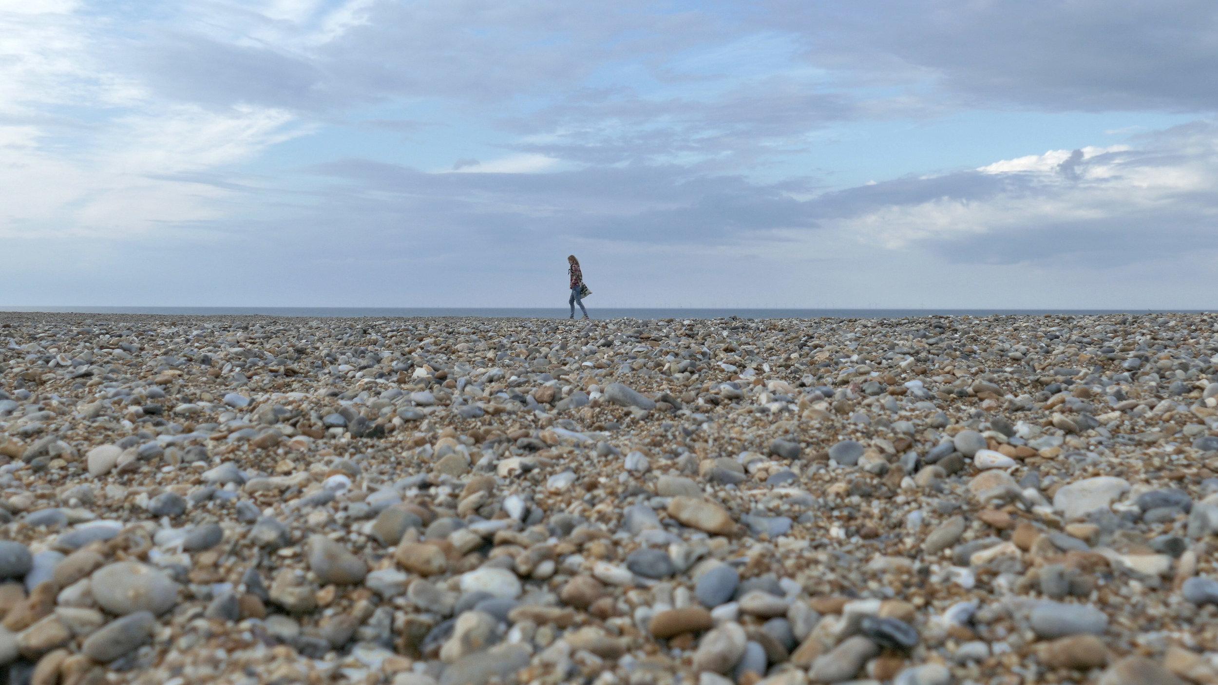 Aga walks the coastline.jpg