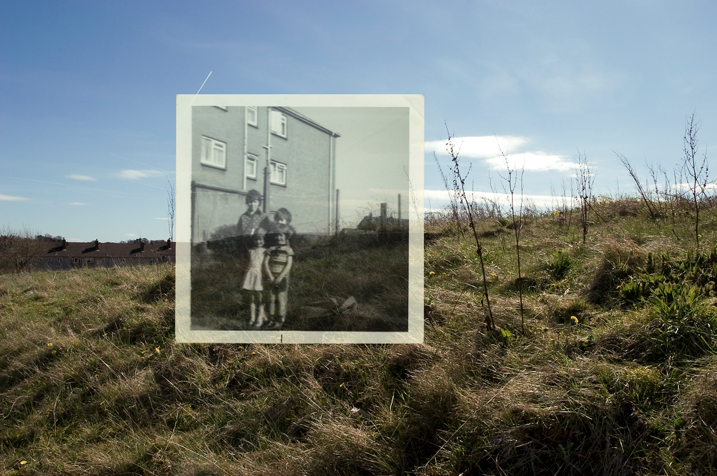 Nicky Bird and Jan McTaggart:   Foxbar, Paisley. Back of Annan Drive, 1977? / Back of Springvale Drive, 2007 (Detail)