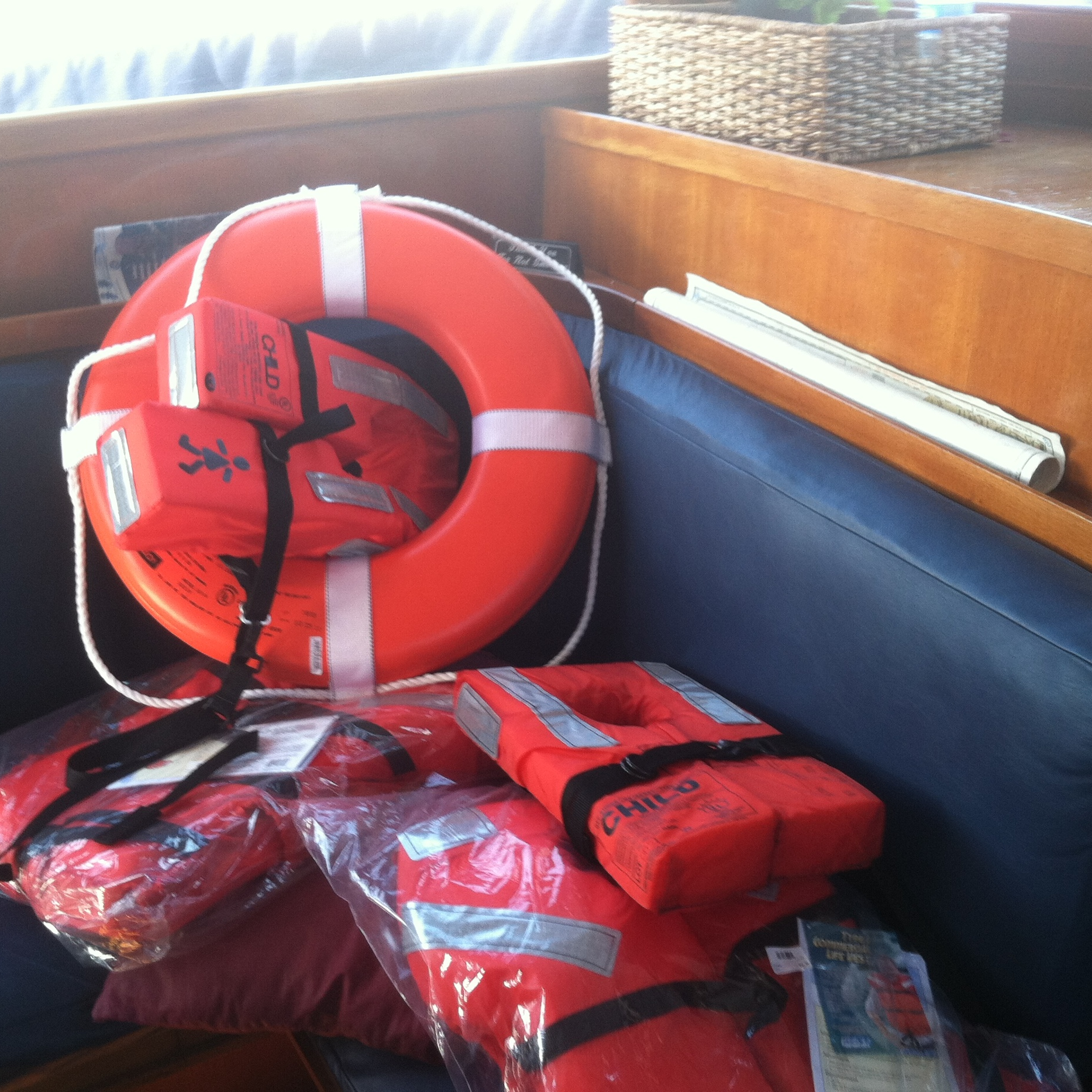 Safety  Life vests are on board for all passengers, including children. Children under 11 are required to wear the life vest.  Be sure to follow your captain's directions and read all posted messages.