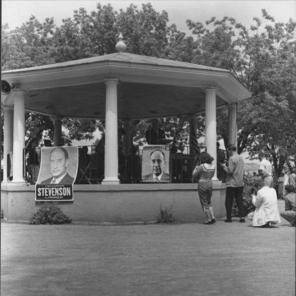 Adlai Stevenson's campaign came to Petaluma around 1952. Photo courtesy of the Sonoma Heritage Collection, Sonoma County Library
