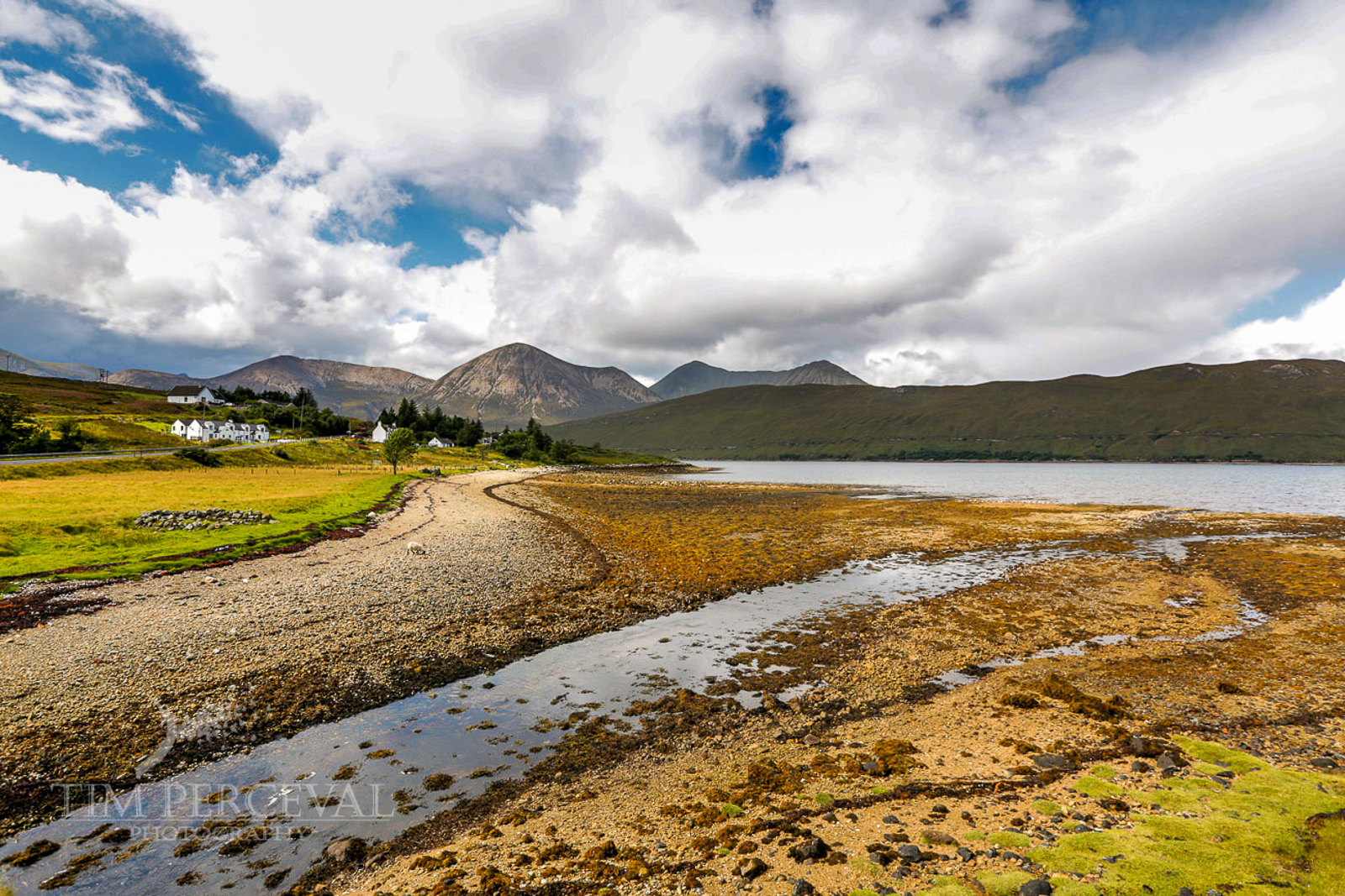 Loch Ainort shoreline overlooking the hills of Marsco, Isle of Skye