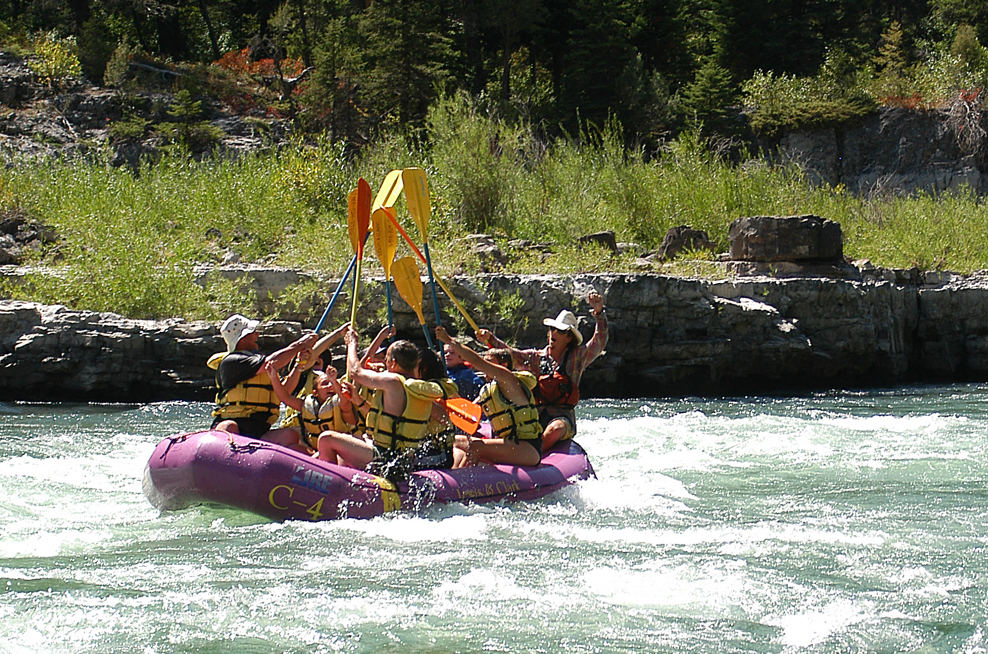 A whitewater high-five!