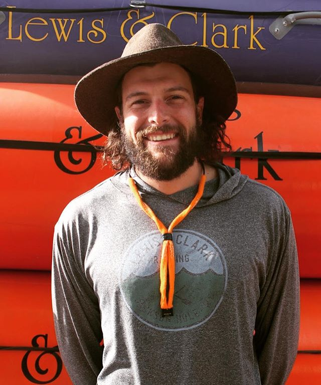 "Meet Orion - just like the constellation ⭐️ Orion is from Dedham, Massachusetts and was brought to Jackson by his Volkswagen Passat (swipe to see the legend) and has been guiding on the Snake River for four years. He is also involved in underwater penmanship, general debauchery, and candle-lit dinners. Orion's favorite quote is ""no"" - Rosa Parks and he is defined by ""all forward"". What are some of your favorite Snake River memories with Orion?"