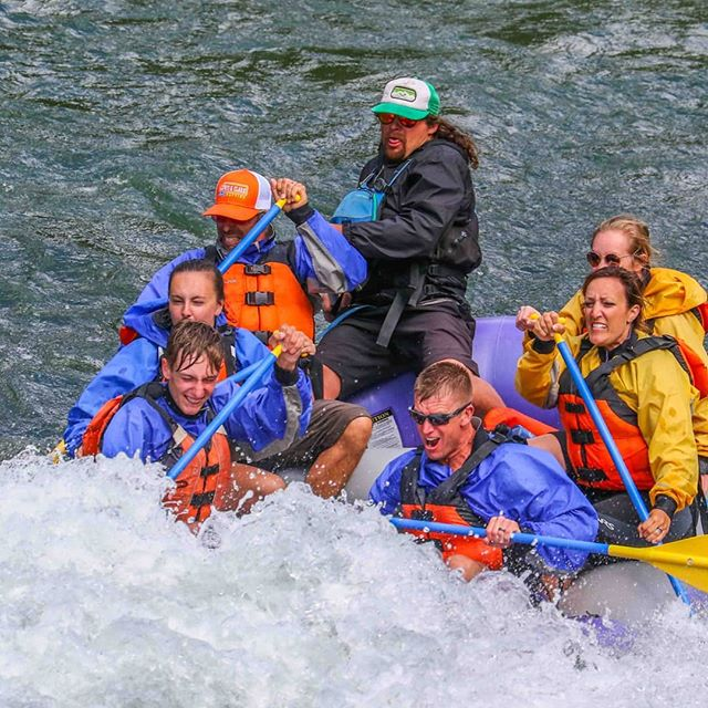 The summer may be winding down, but rafting season is still going strong! Book a small boat today to get a wetter, bumpier ride like this! #snakeriver #whitewaterrafting #smallboat #jacksonhole