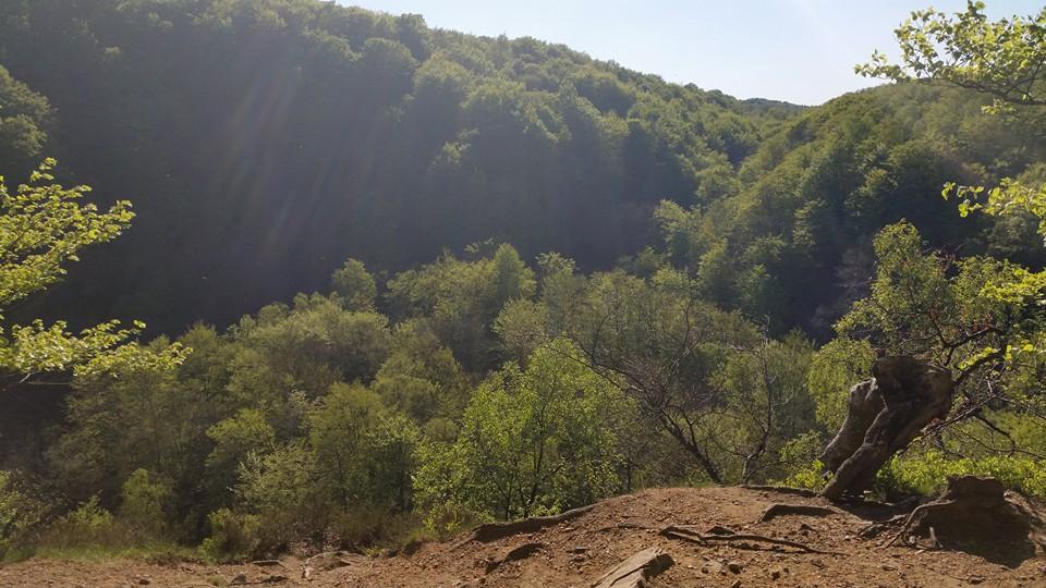 En udsigt så smuk, dog var vi en smule højdeskræk da vi så ned.