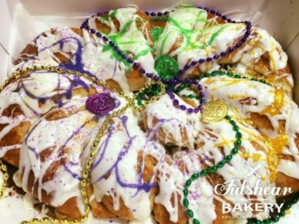 A King Cake. This is one of the first products Lori offered when starting a home-based food business.