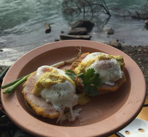 Eggs Benny before a paddle