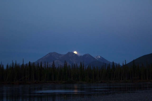 Nahanni River Moonrise over Rabbitkettle Mountain.jpg
