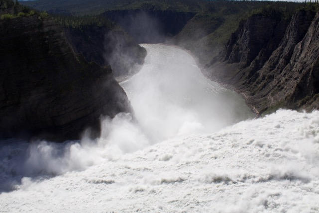 Nahanni River Virginia Falls precipice.jpg