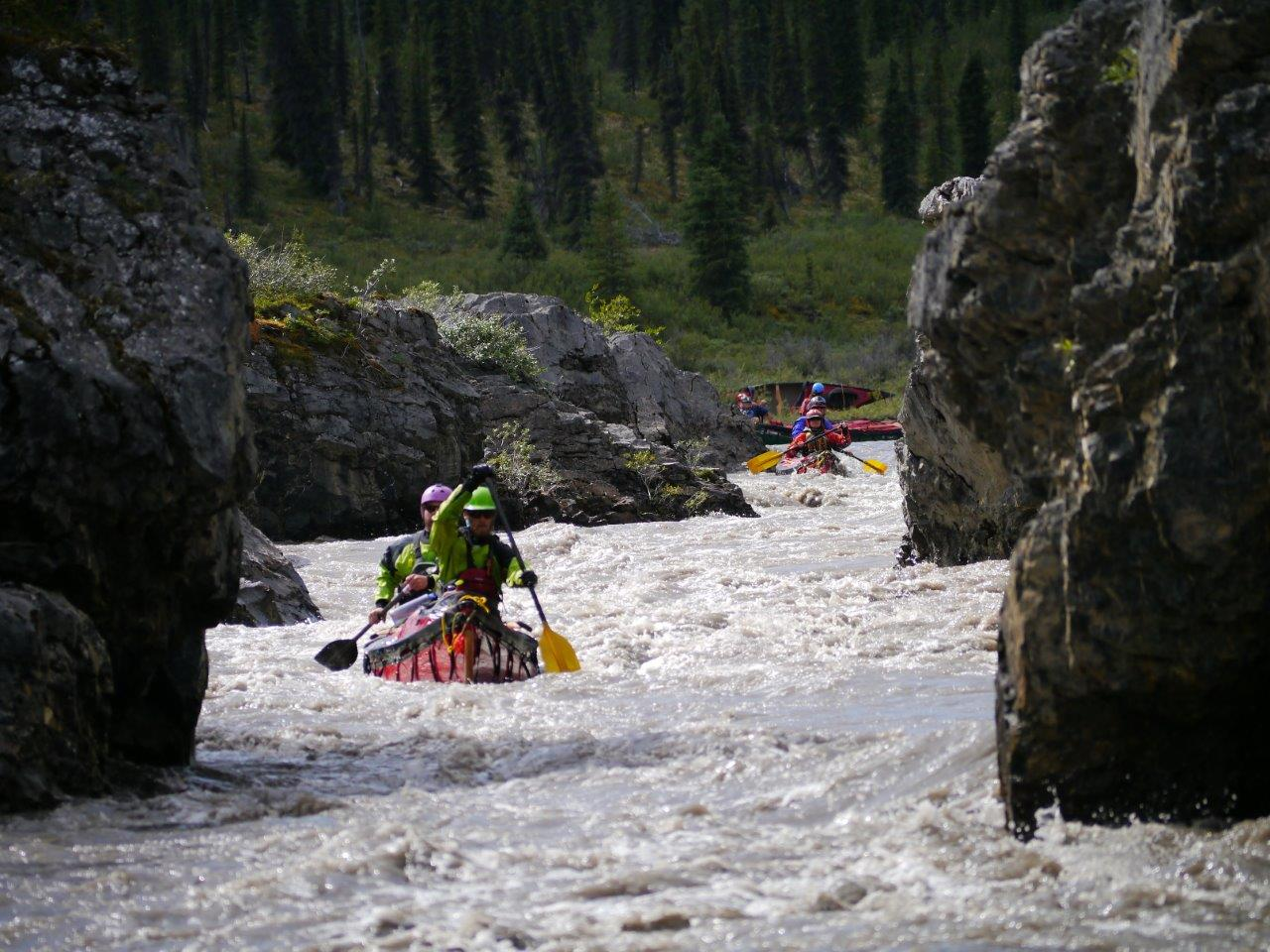 Share in the excitement of white water canoeing on the Mountain, Keele and Nahanni River amongst many more!