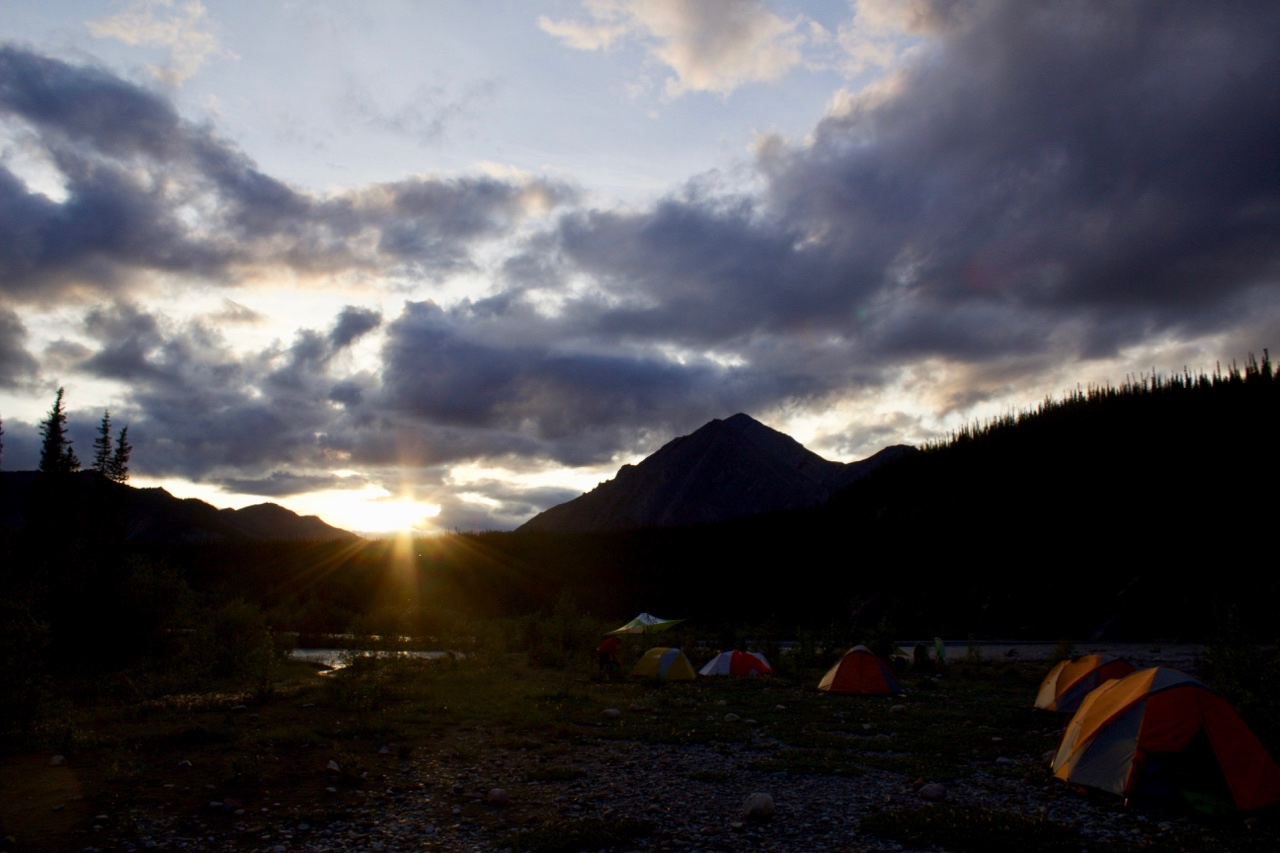 Mountain River Cache Creek Sunset and camp.jpg
