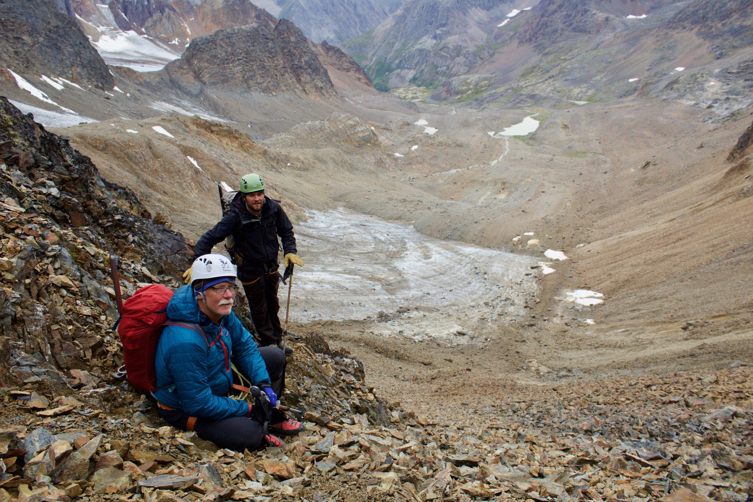 David making memories with Nahanni Wild guide Daniel Robb