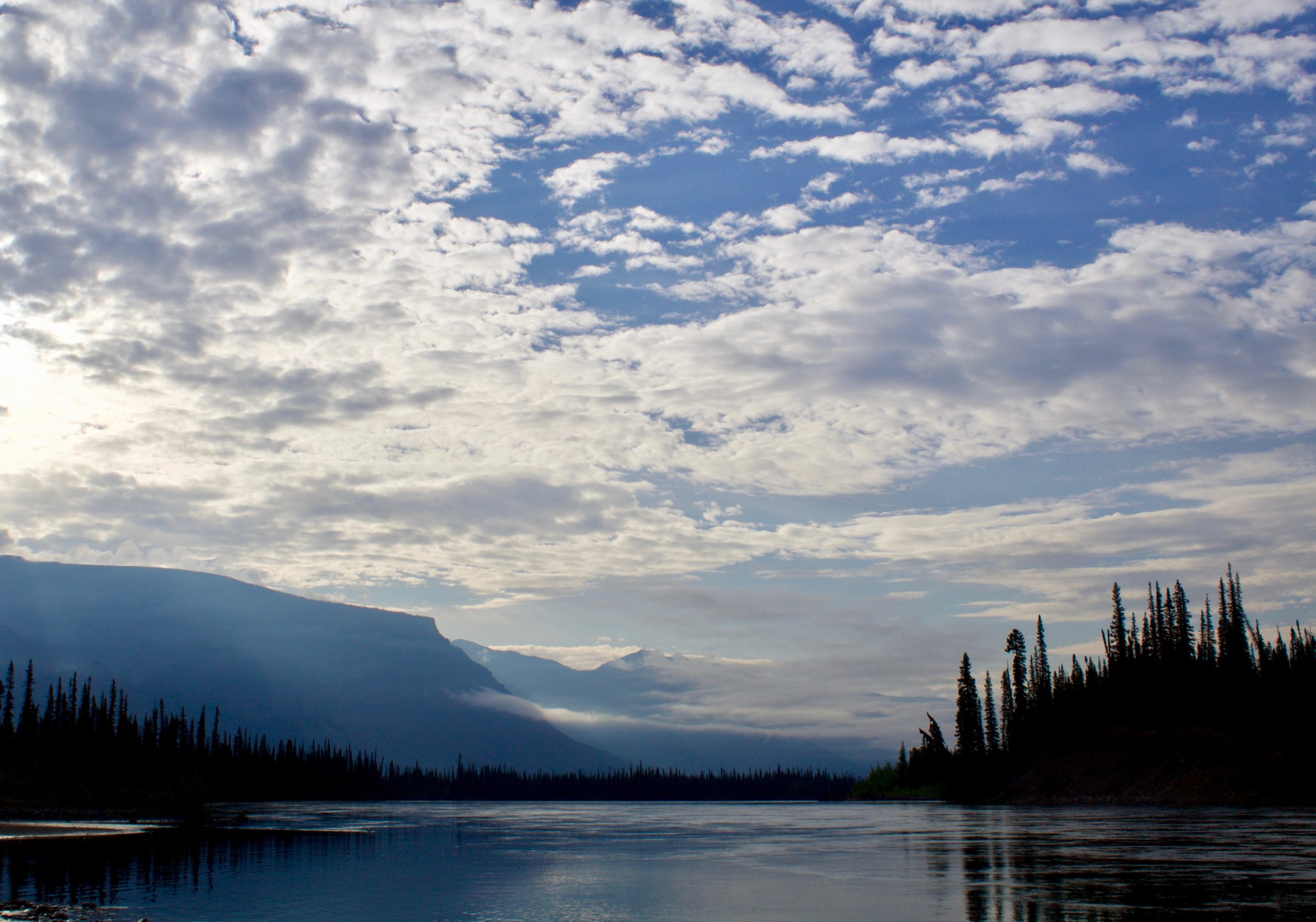 A quiet morning on the Nahanni River.
