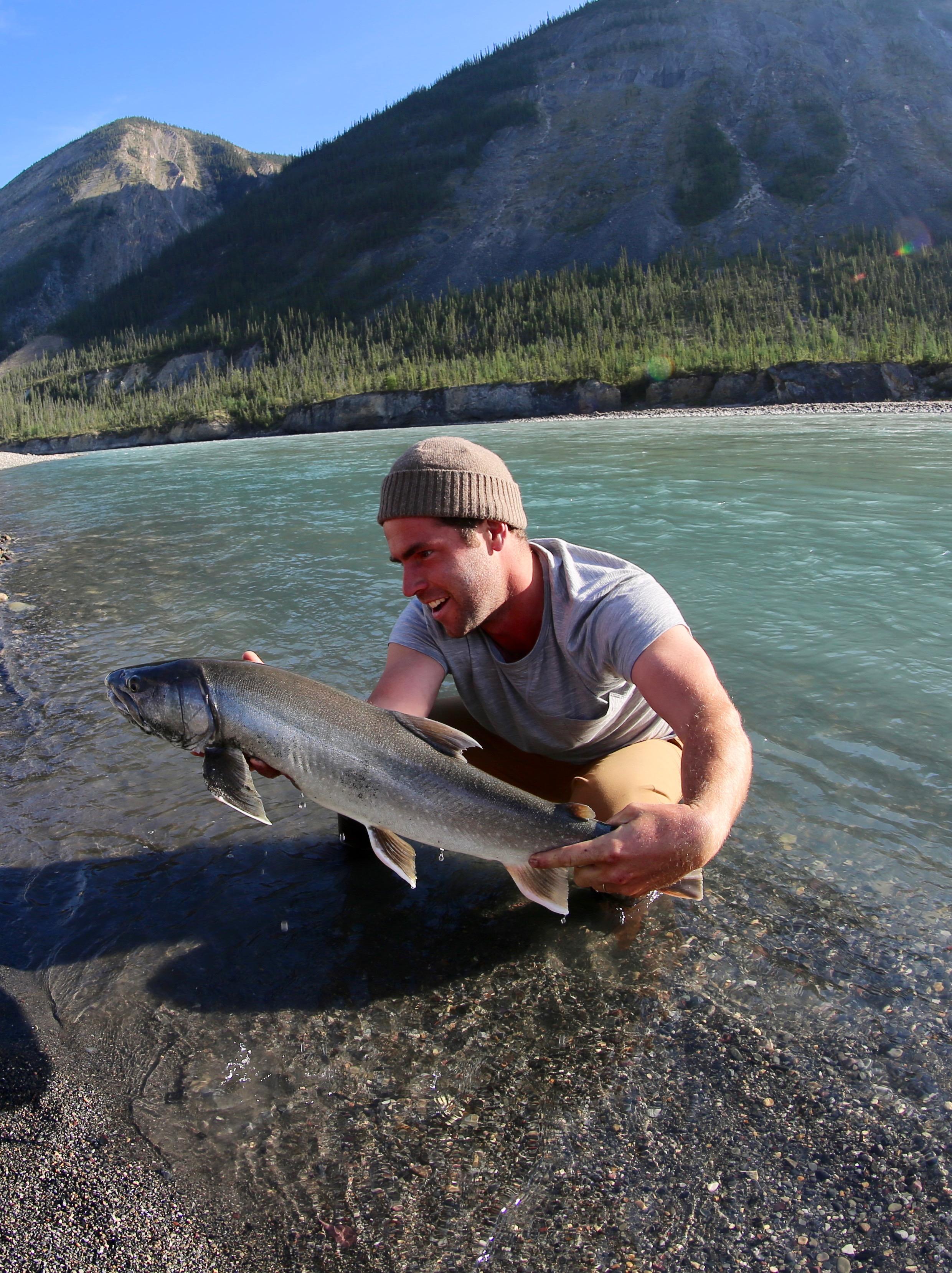 Joel Hibbard Nahanni River Guide Fishing