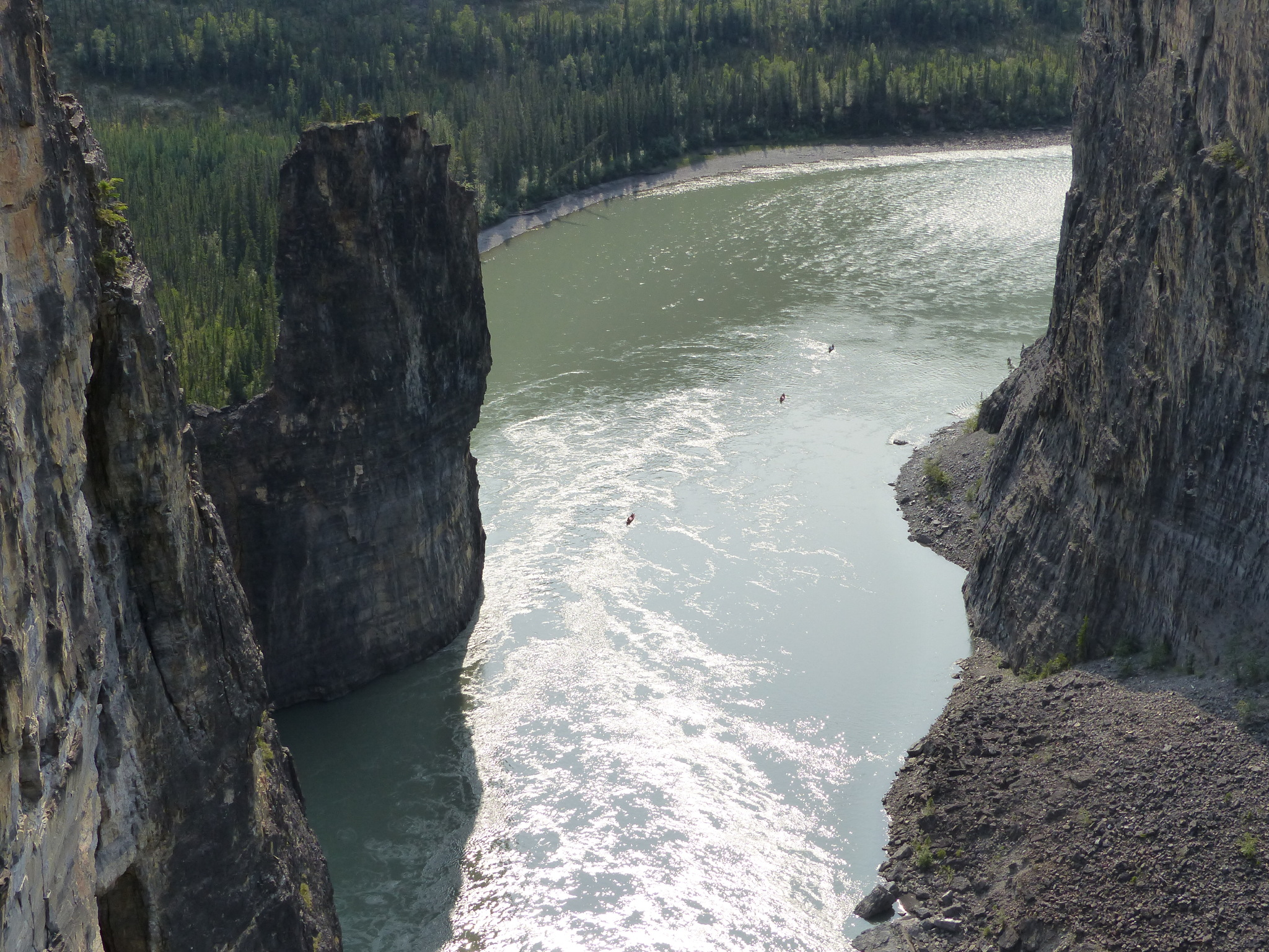 A view of The Gate, Nahanni River.