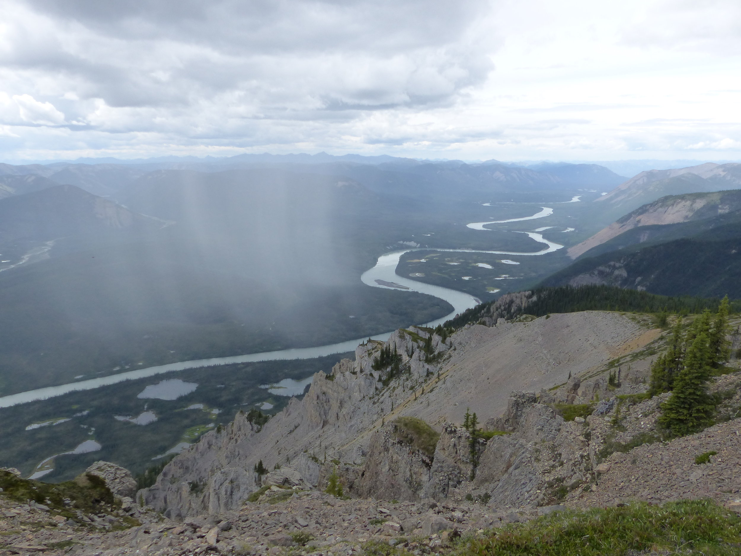 The ribbon of the Nahanni River.