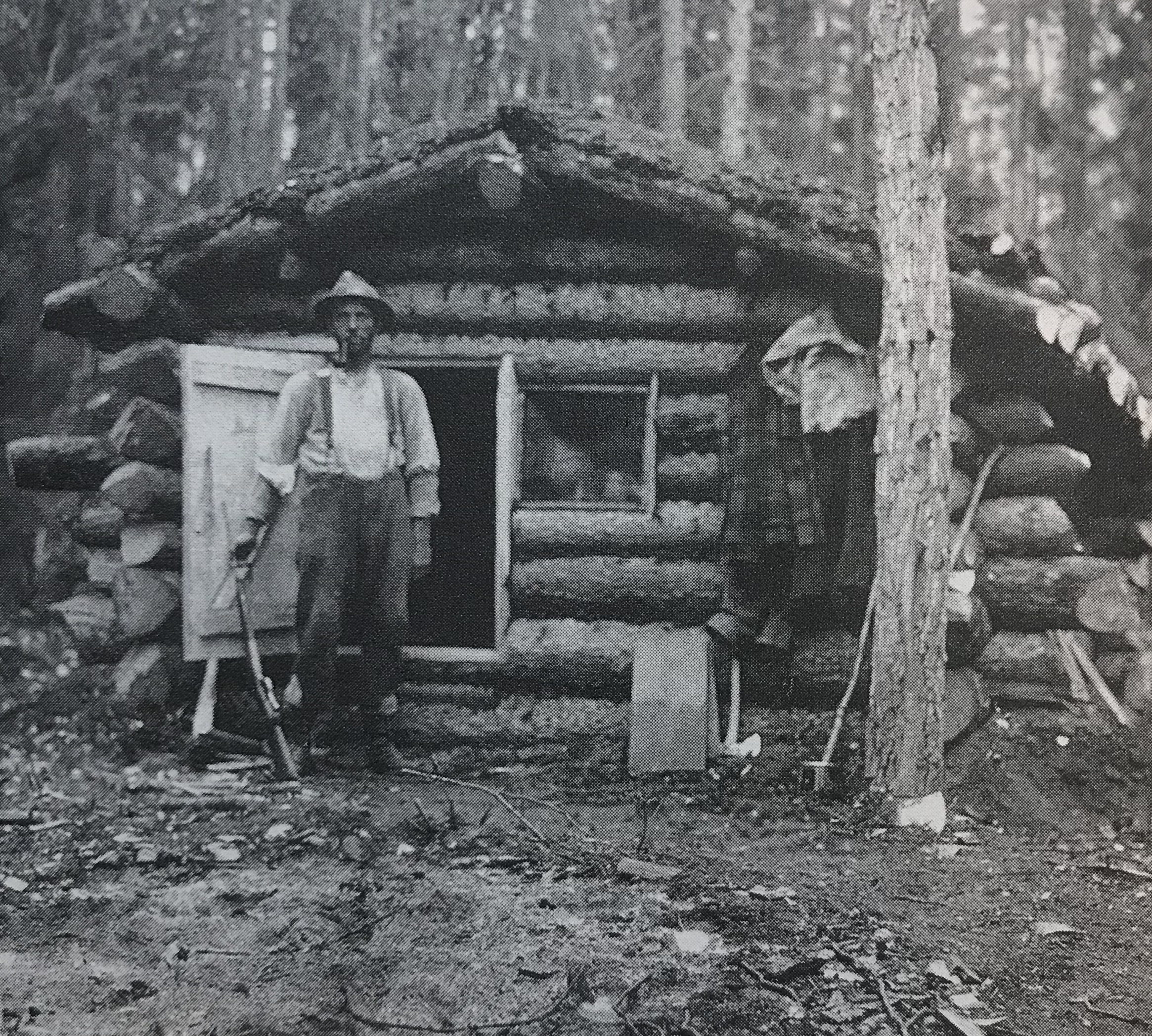 Faille at his cabin  (Flat River)
