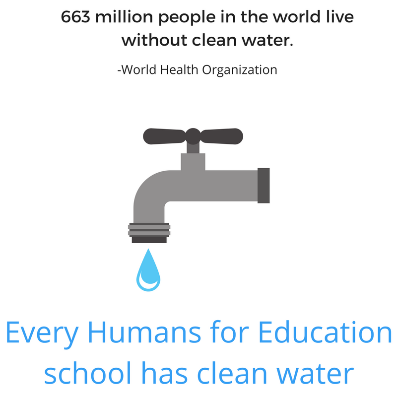 Humans for Education clean water