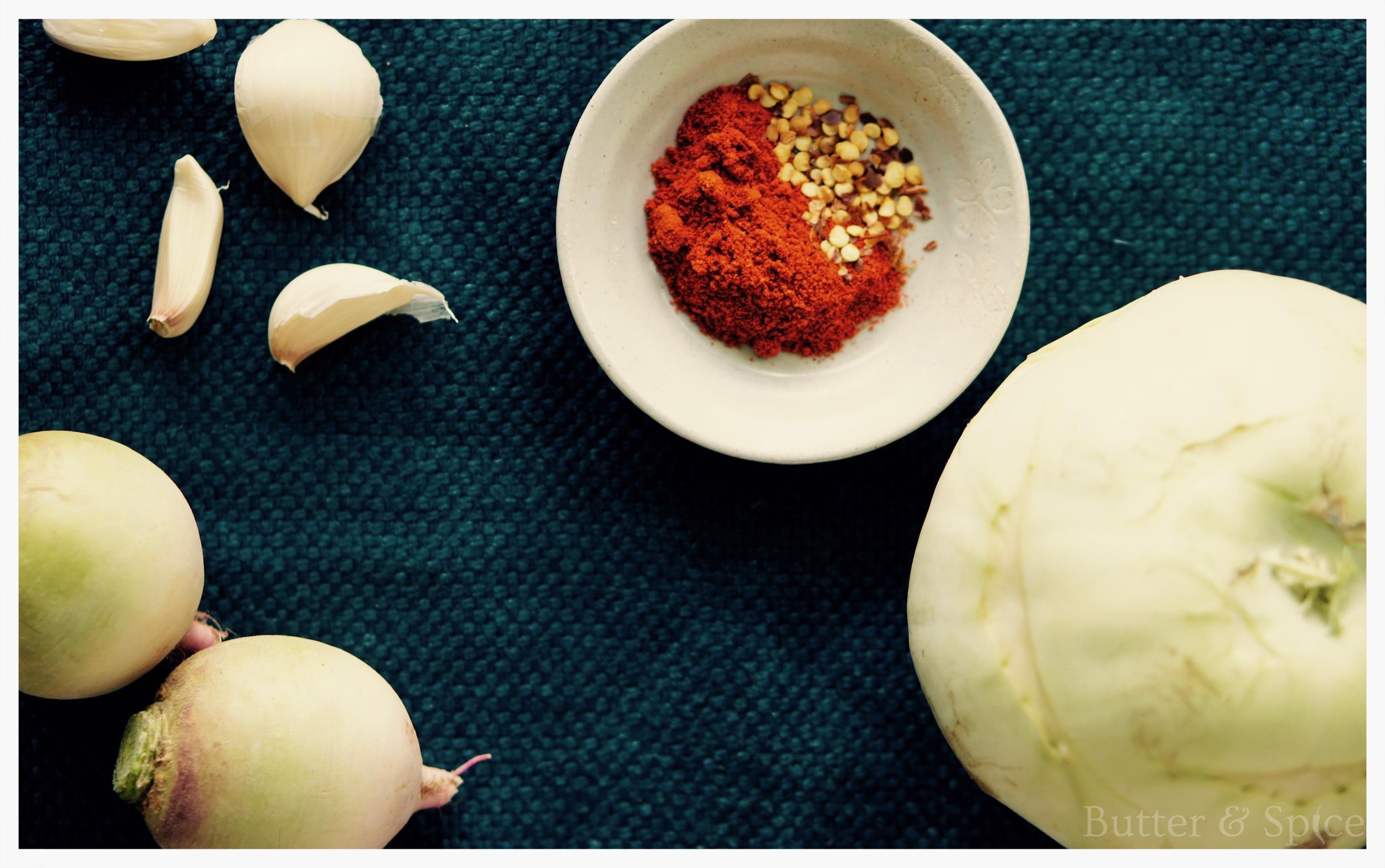 Low Carb Spicy Kohlrabi Wedges Ingredients