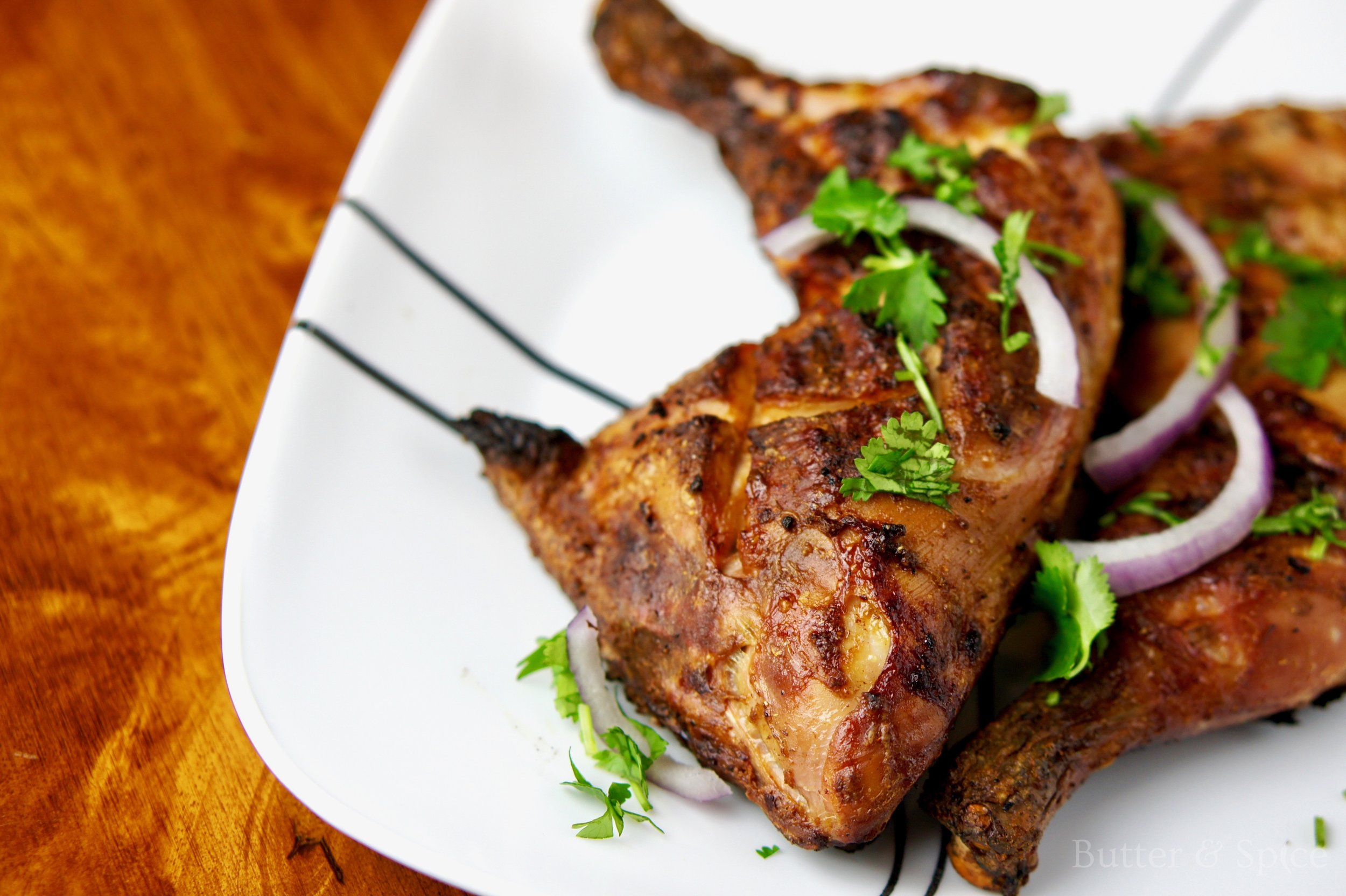 Low Carb Barbecued Indian Chicken