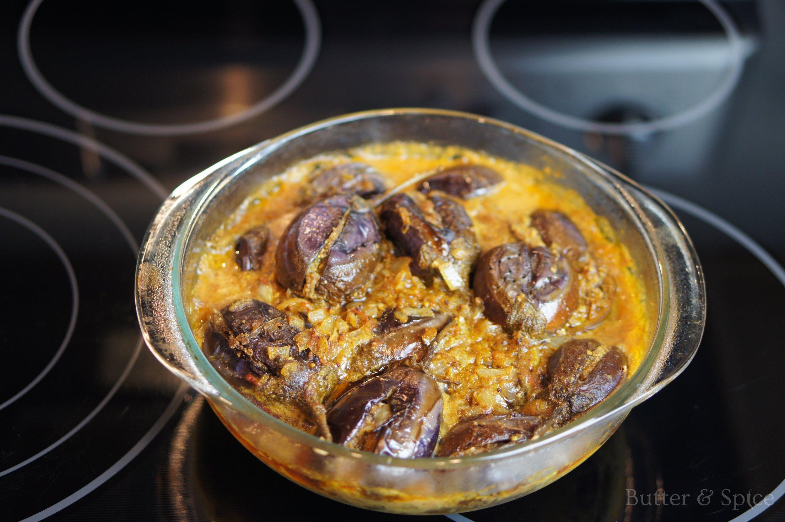 Keto Stuffed Indian Eggplants